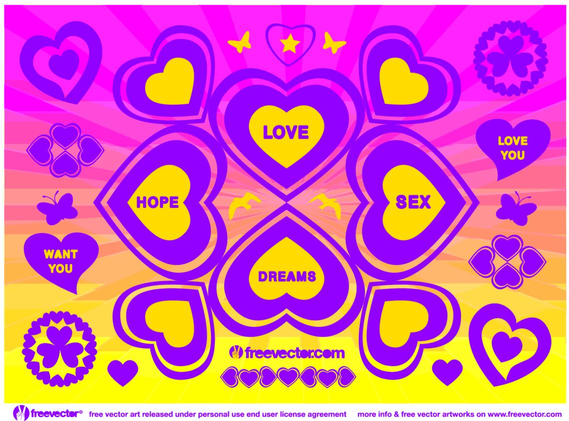 Love Hope Sex Dreams Vector