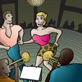 Salsa Orquesta And Dance Vector