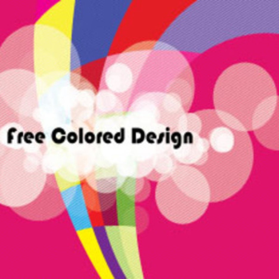 Abstract Colored Design In Pinked Vector