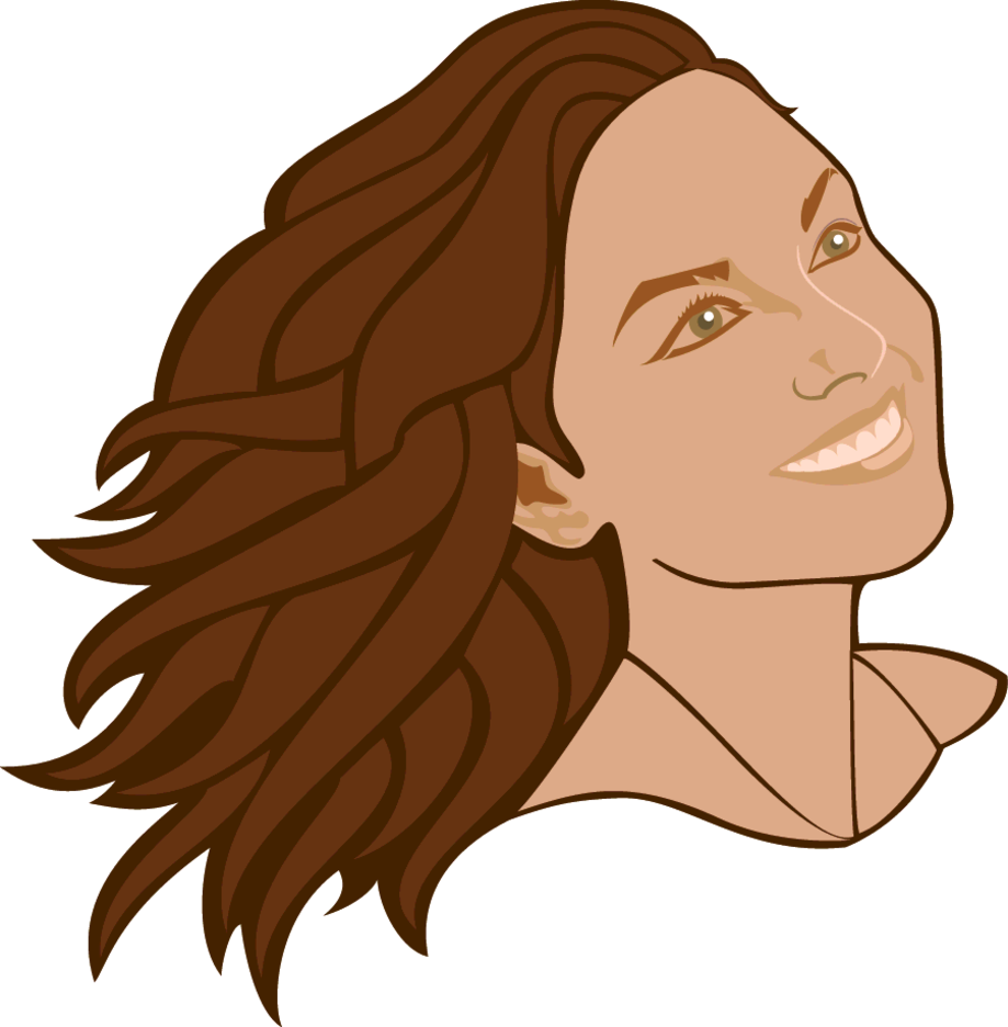 Girl With A Smile Vector