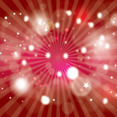 Red One Abstract Free Vector