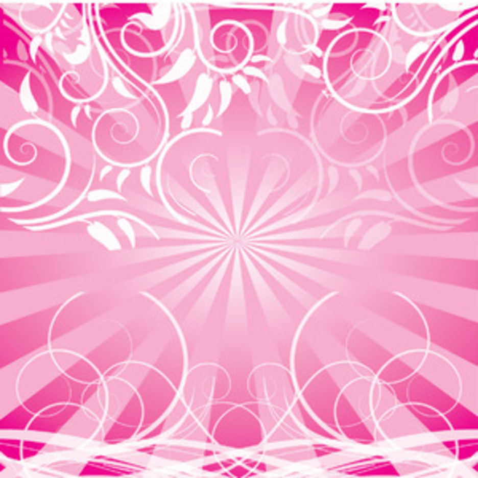 Vector Swirls Pink Design