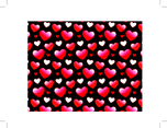 Shiny Valentines Heart Photoshop And Illustrator Pattern