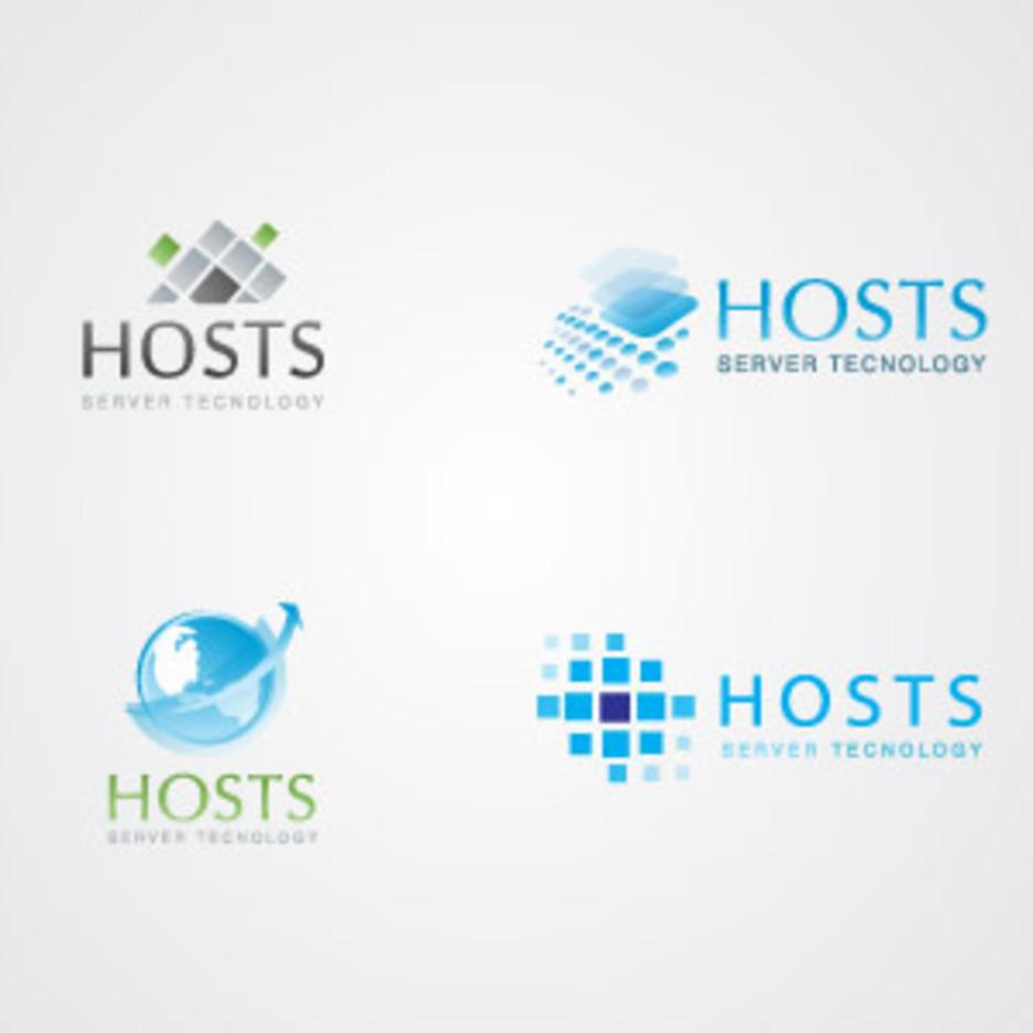 Server & Hosting Logo Templates