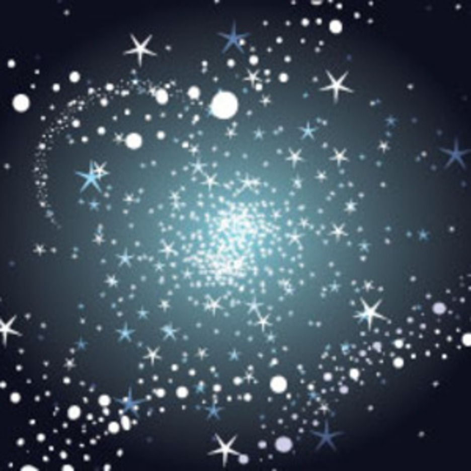 Stars And Bubbles In Dark Background