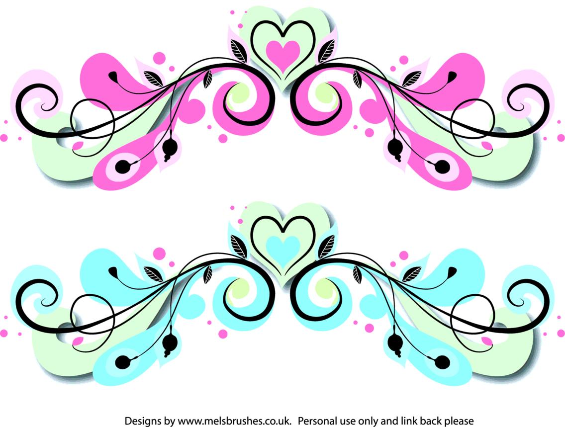 Swirly Heart Scroll