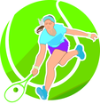 Tennis Player Vector Illustration 2