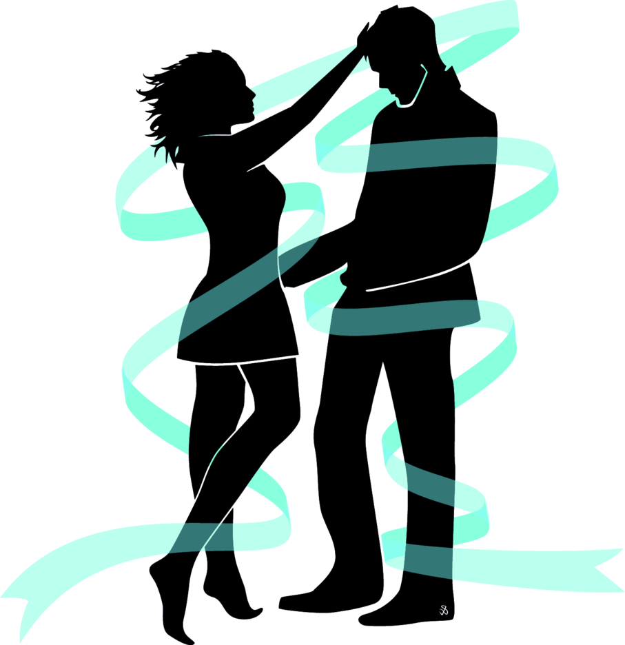 Lovers Silhouettes Vector