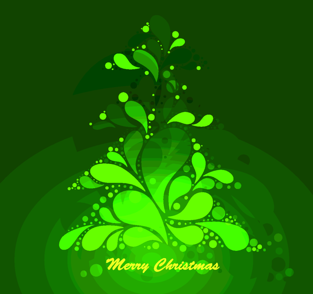 Abstract Green Christmas Tree Vecto