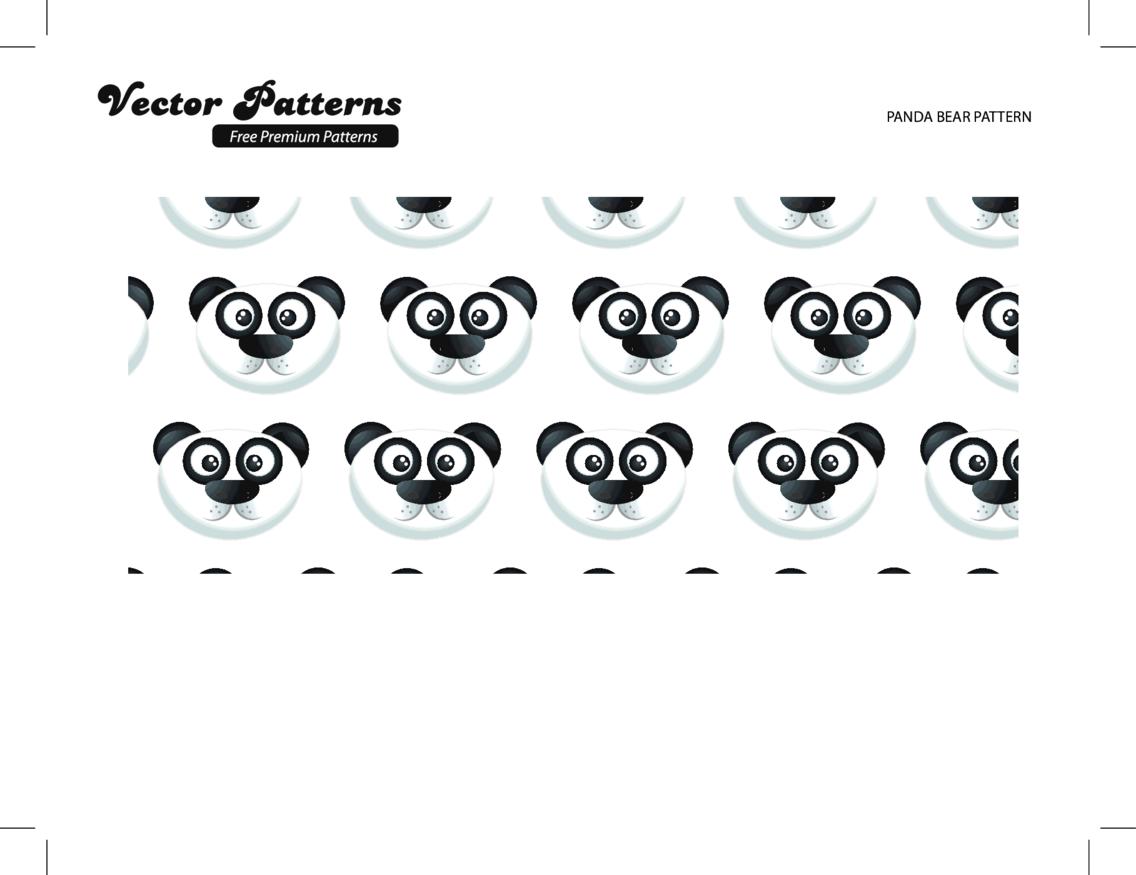 A Cute Panda Bear Pattern