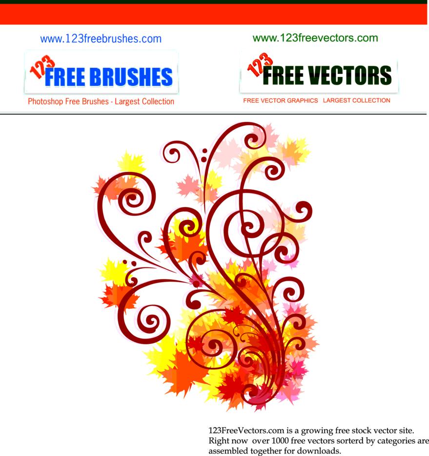 Free Autumn Swirl Vector