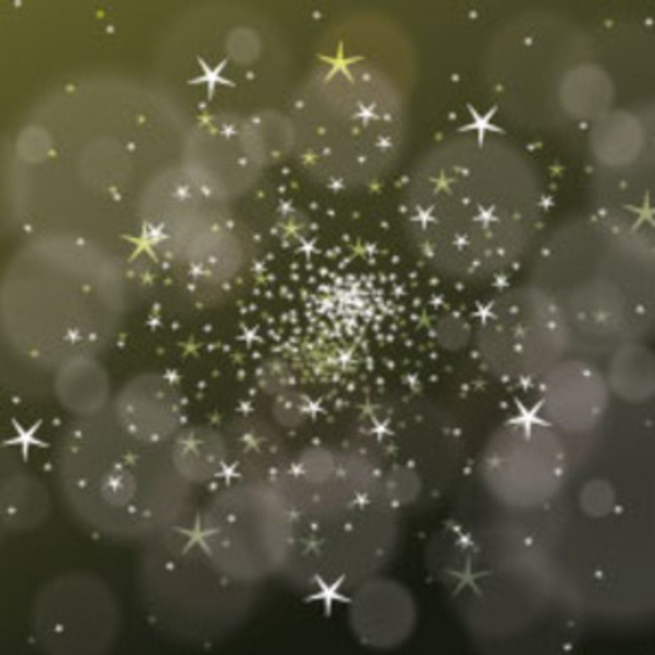Vector Bubbles And Stars Dark Green