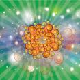 Vector Bubbles Stars Dark Green