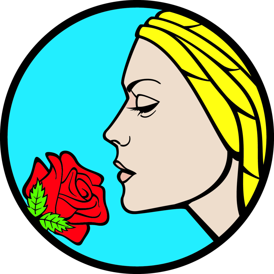 Girl With Rose Vector
