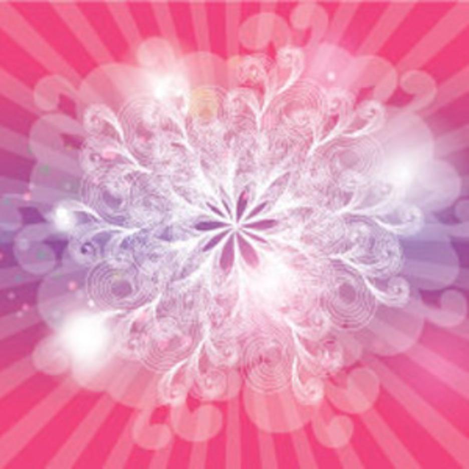 Vector Empty Swirls Pink Design