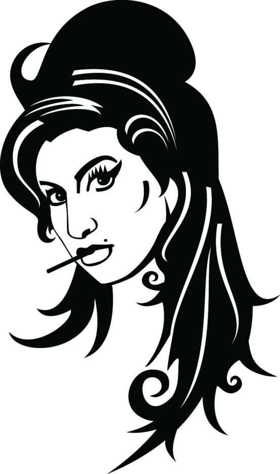 Amy Winehouse Vector Portrait