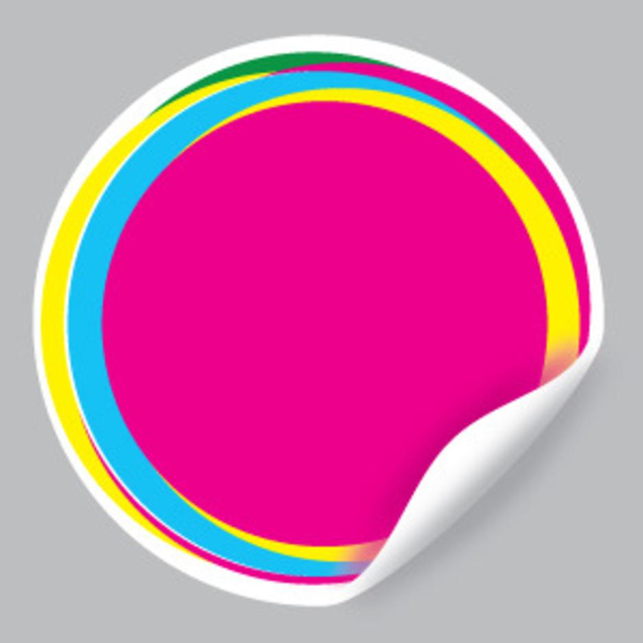 Pink Vector Sticker