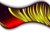 Abstract Golden Design Element