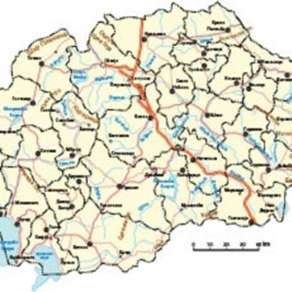 Macedonian Vectro Map