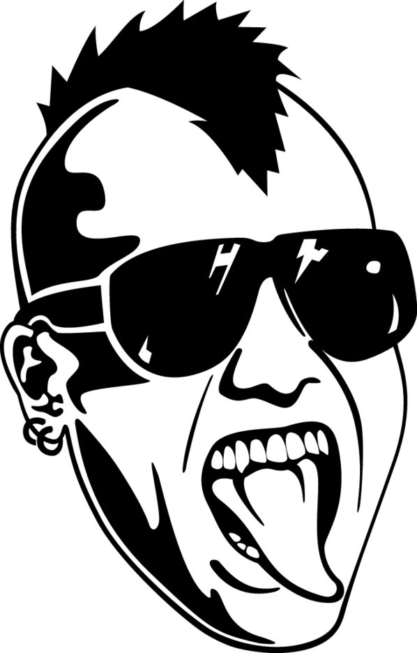 Punk Face Vector