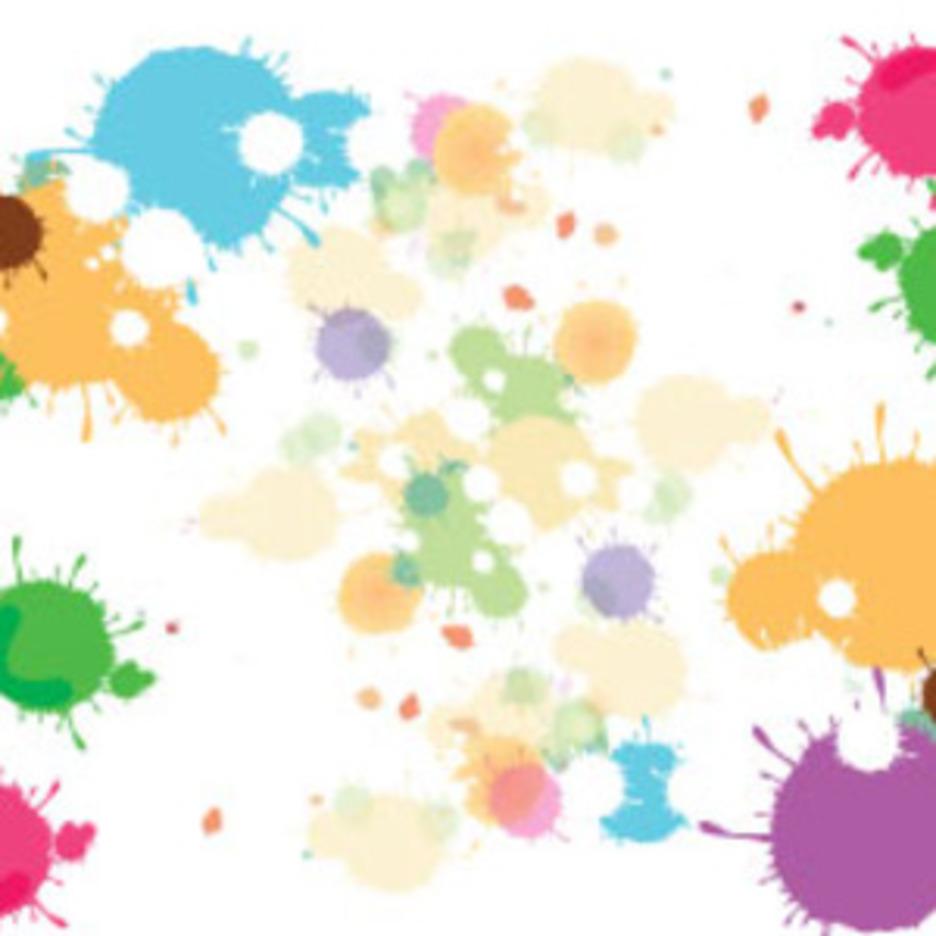 Splash Art Colored Vector
