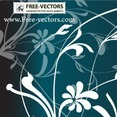 Free Flower Ornaments Vector-2