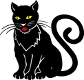 Black Cat Vector Illustration