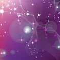 Vector Abstract Stars Purple Background