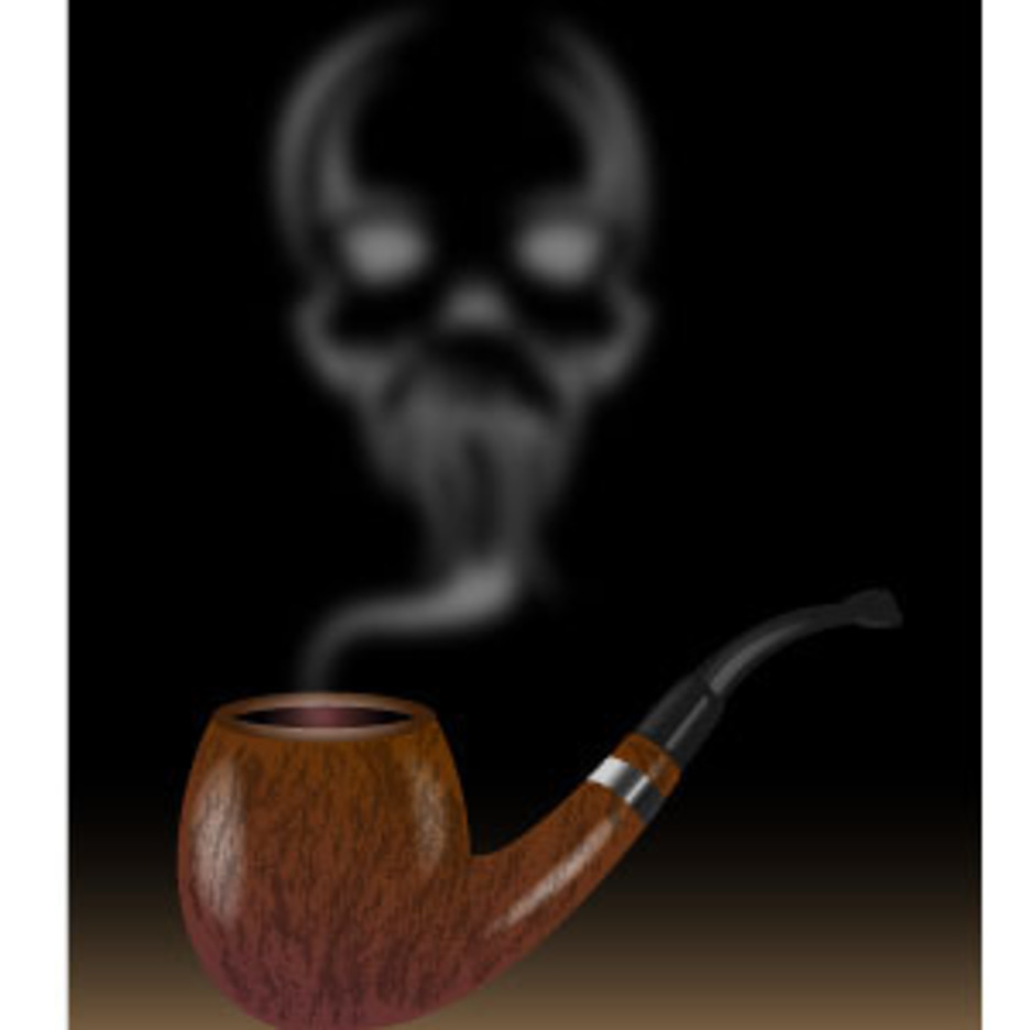 Pipe Smoke With Skull