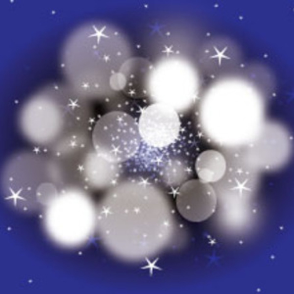 Dark Blue Blur Bubbles Vector Art