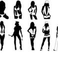 Sexy Girls Silhouettes Vector Pack.