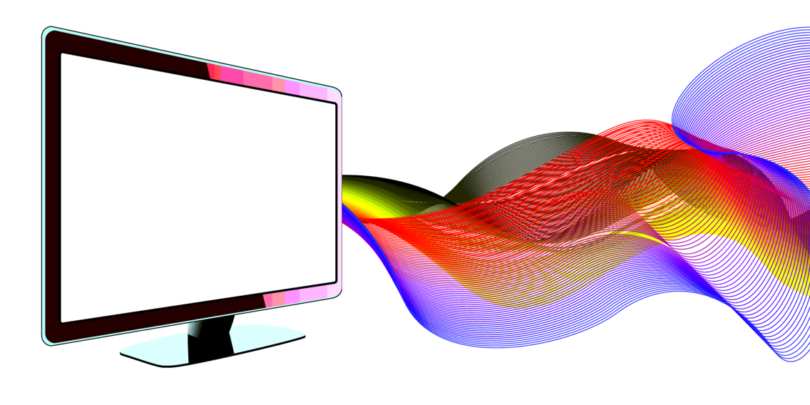 LCD TV With Waves