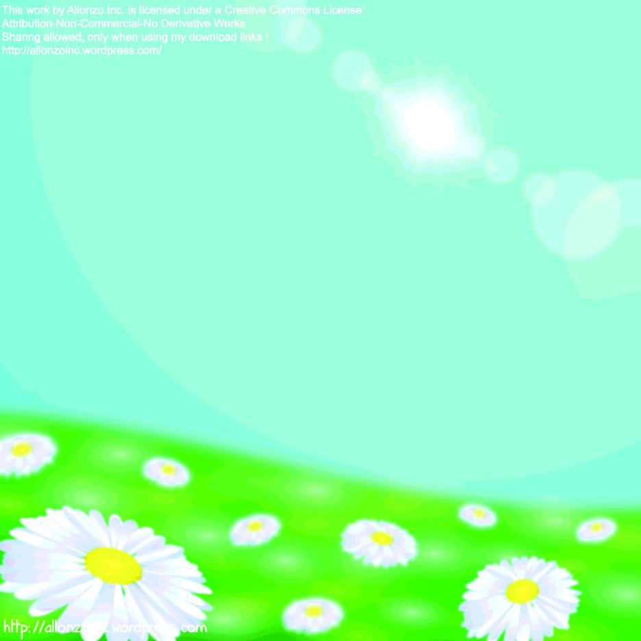Daisy Flower Field Background