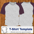 Youth Raglon T-shirt Template