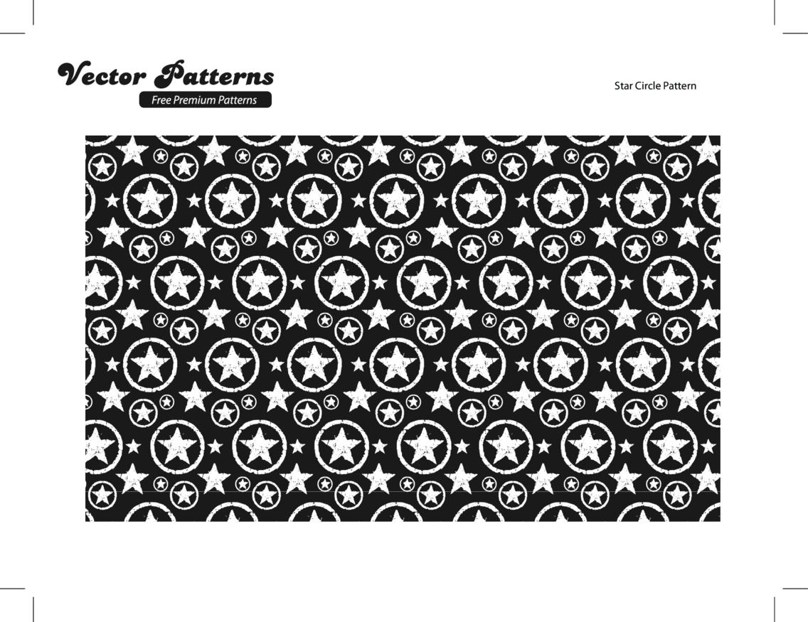 Grungy Star Circle Photoshop And Illustrator Pattern