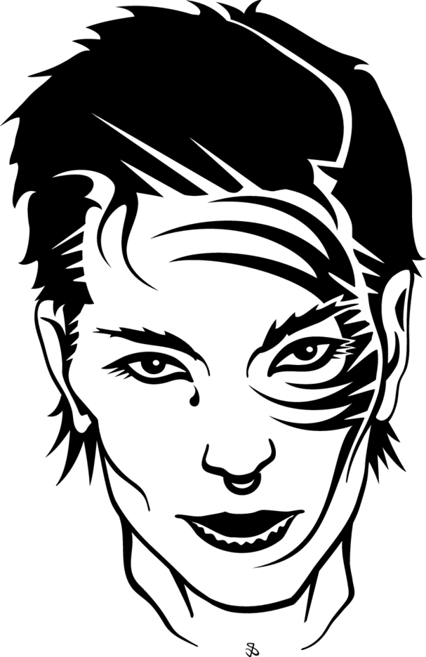 Girl With Face Tattoo Vector
