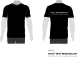 VECTOR MODEL T-SHIRT TEMPLATE FRONT BACK