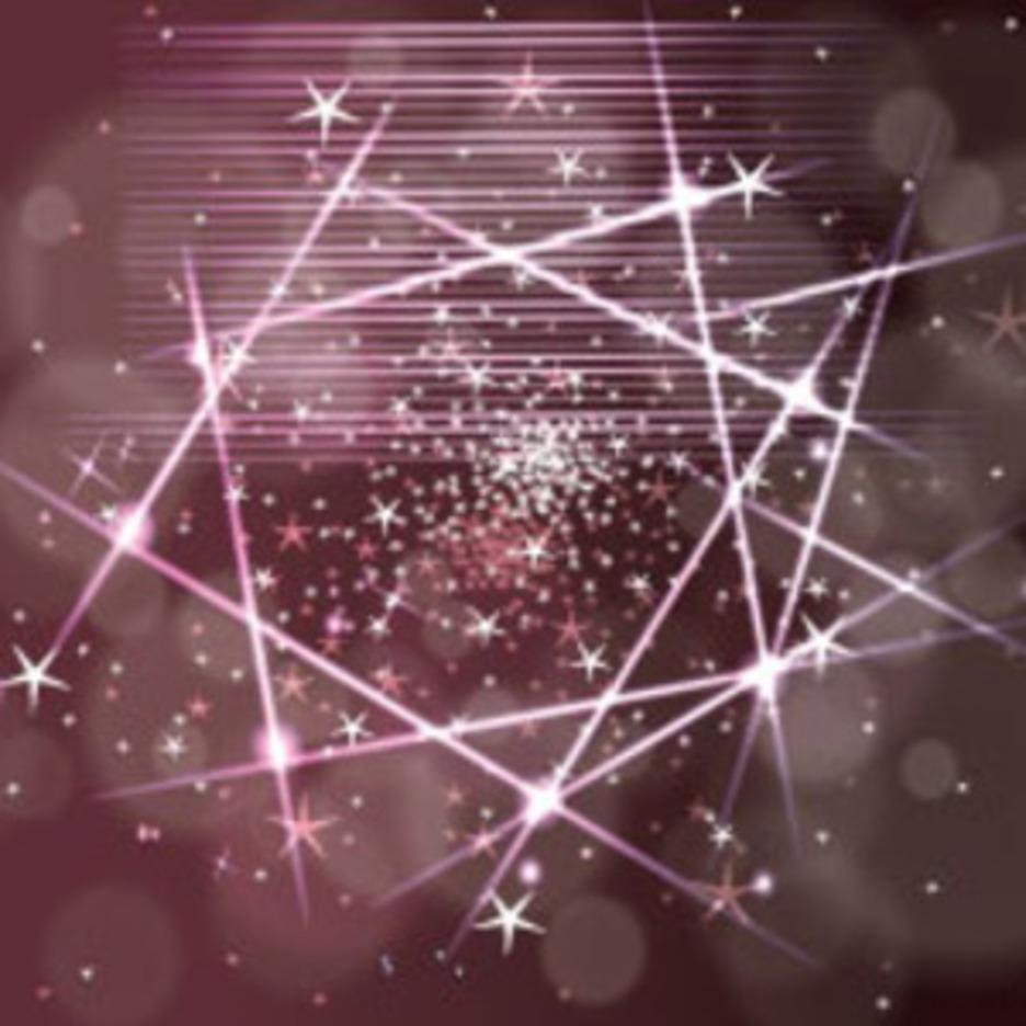 Red Shining Stars Vectort Art Graphic