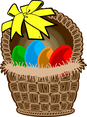 Easter Basket Vector Art