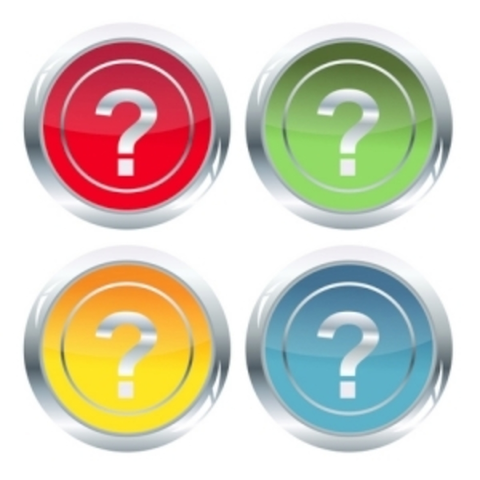 Set Of Question Mark Icons