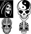 Vector Skulls Set 2