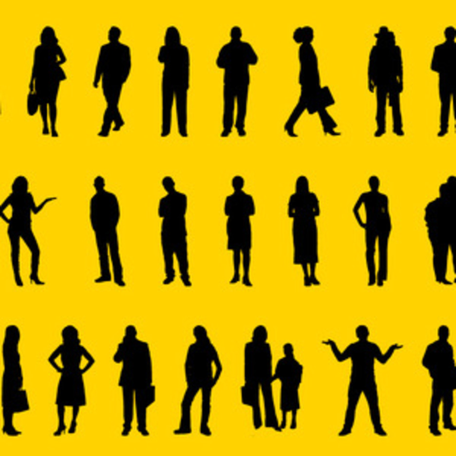 People Positions Silhouettes Vector Art