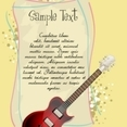 Guitar With Text Template