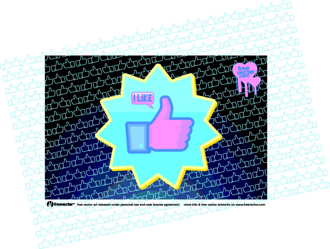 Facebook Like Vector Button
