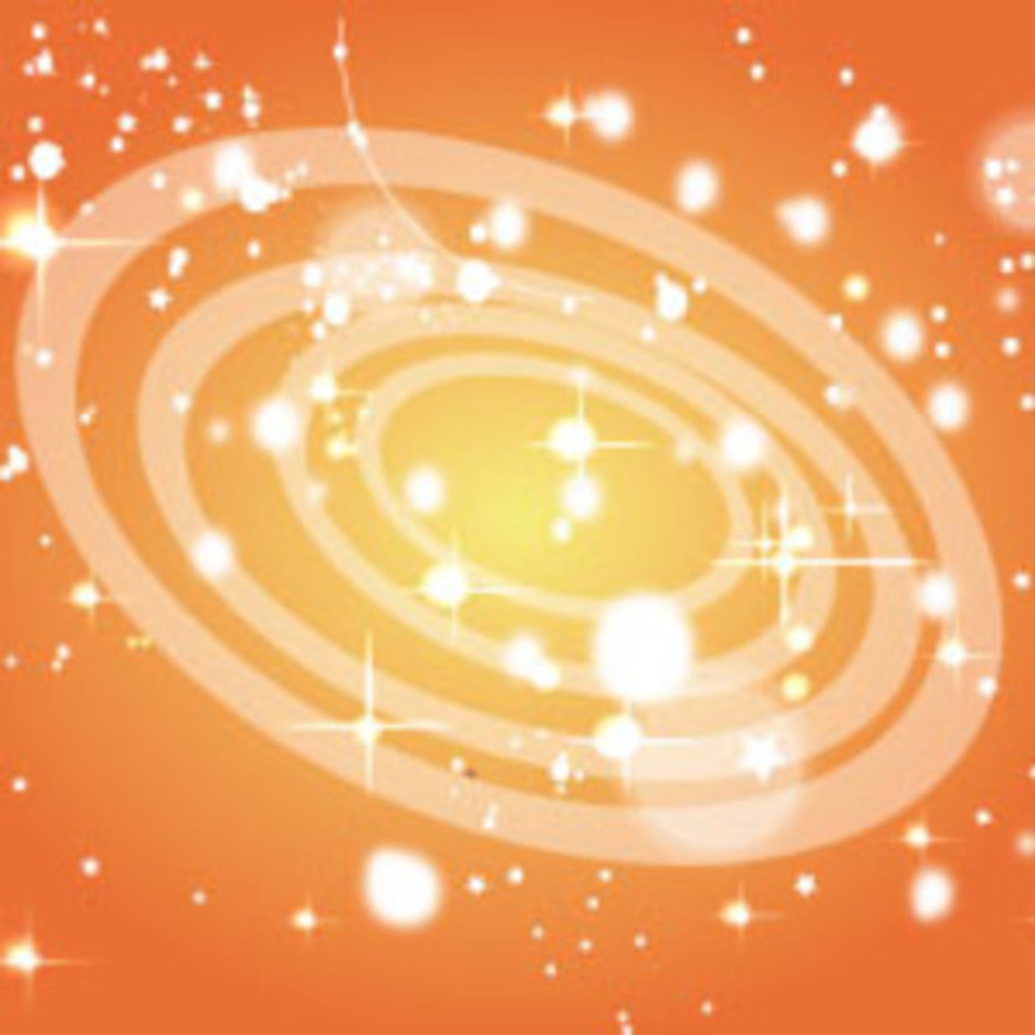 Orange Retro Circle Abstract Shinning Vector