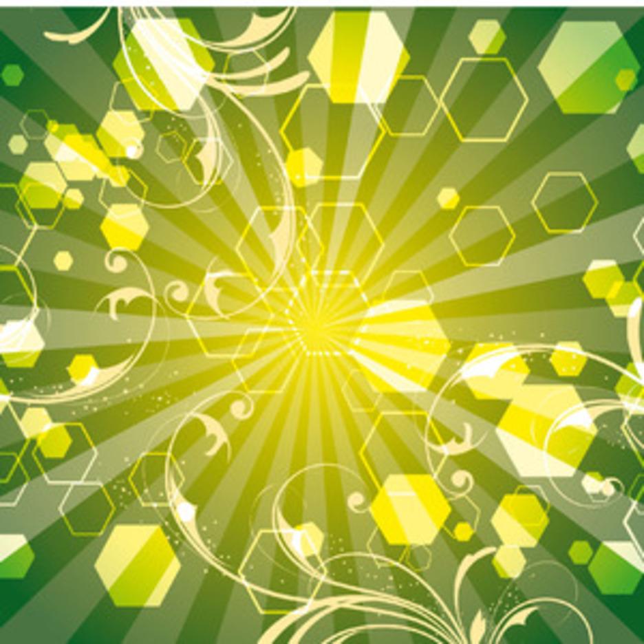 Green Life Swirls Art Vector Line