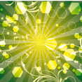Green Life Swirls Art Vector Line