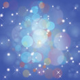 Colored Bubbles In Blue Stars Background