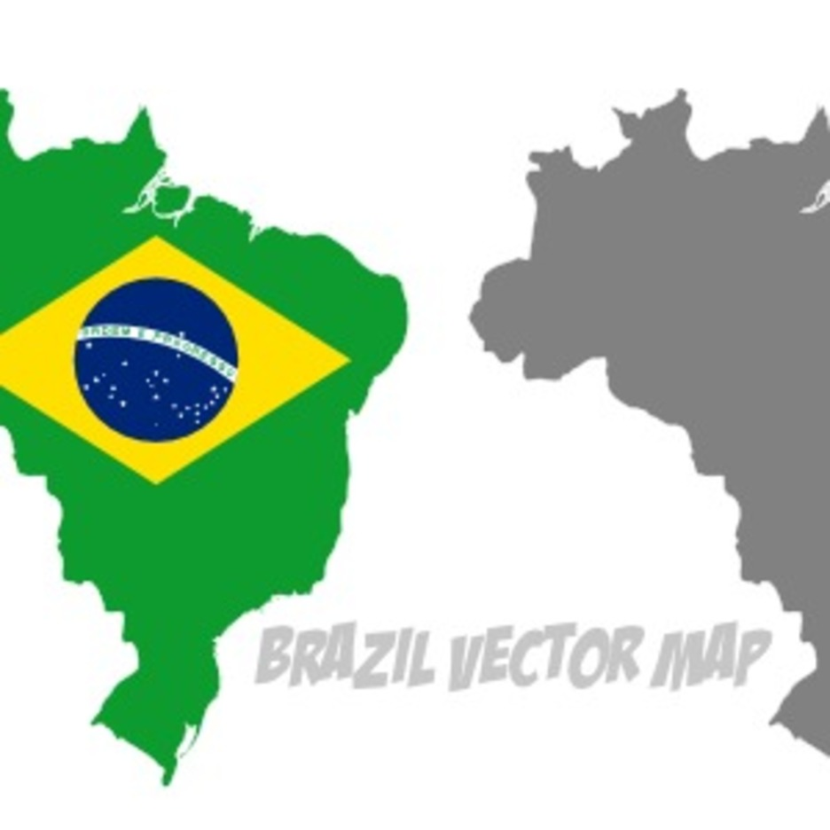 Vector Brazil With Flag