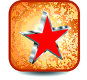 Vector Button With Red Star